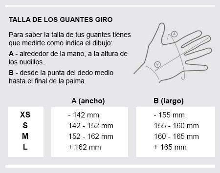 tallas guantes Giro